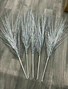 Artificial Set Of 5 Sprays Bloomers Shooters Silver Grass Sprays Romany Bling✨