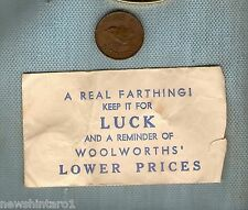 #D165. WOOLWORTHS' LUCKY FARTHING WITH ENVELOPE