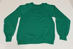 Vintage 90s Hanes Kids Youth Large 14-16 Crewneck Sweatshirt Pullover Green