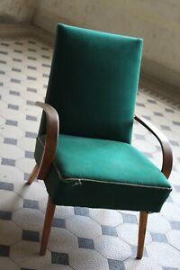 Mid Century Vintage Czech Jindrick Halabala Style Armchair Chair 1960s