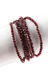 Barbara Bixby Sterling Silver 18kt Gold Garnet Beaded Bracelet
