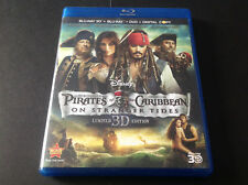 PIRATES OF THE CARIBBEAN ON STARNGER TIDES   ( BLU RAY 3D + BLU RAY + DVD  )