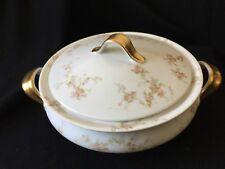 Vintage Theodore Haviland Limoges France Round Covered Vegetable Bowl