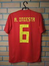 Spain Iniesta Jersey 2018 Home M Shirt Adidas Football Soccer Trikot Maglia