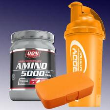 32,22€/kg) Best Body Hardcore Amino 5000 325 Tabletten + Shaker u. Box in Orange