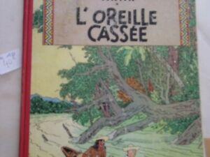 Les Aventures de Tintin : L'OREILLE CASSEE B12 1955