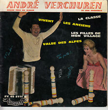 45TRS VINYL 7''/ FRENCH EP ANDRE VERCHUREN / ACCORDEON / LA CLASSE + 3