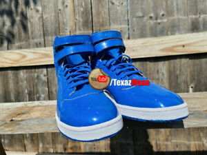 Mens Puma Sky Hi blue patent leather, new no box, mens size 12