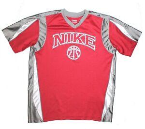 Nike Basketball Crimson/Silver-Gray/White Warm-up Shirt Youth Size M (10-12)