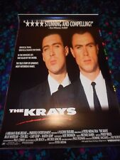THE KRAYS - ORIGINAL ROLLED SS POSTER - 1990 - GARY & MARTIN KEMP