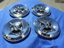 "NEW Lancer 4 Bar Spinner Hub Caps 14"" 1950 1960 MoPar Ford Hot Rod Custom"