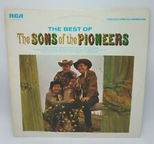 The Best Of the Sons of the Pioneers LP, 1966, Cowboy Country VG NM RCA 1966