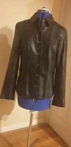 Nine West Ladies Black Leather Jacket Medium