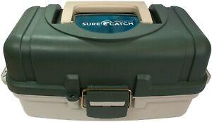 New Surecatch 2 Tray Fishing Tackle Box - Heavy Duty Tool Box