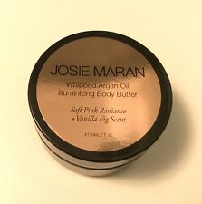 Josie Maran Whipped Argan Oil Illuminizing Body Butter Vanilla Scent 2oz Sealed!
