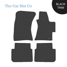 Subaru Outback 2003-2009 Fully Tailored Black Rubber Car Mats With Black Binding