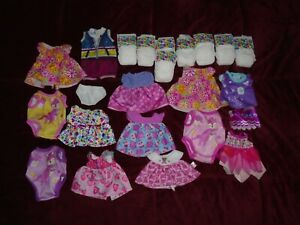 24 Baby Alive Doll Clothes Diapers Dresses +