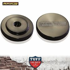 "Aeroflow Billet Black Low Profile Air Filter Cleaner Nut 5/16"" UNC Female New"