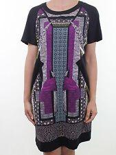 Short Sleeve Tunic Geometric Regular Size Dresses for Women