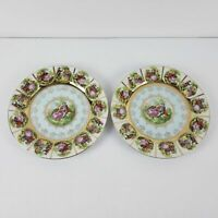 Royal Vienna Victorian Courting Couple Set of Two (2) Salad Plates Blue NICE!