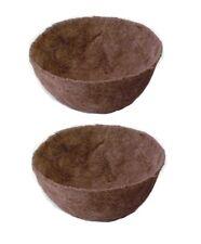More details for 2 x ambassador 16 inch cuped shaped coco liner natural hanging basket liner