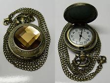 montre à gousset pierre marron