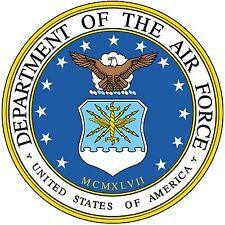 "US Air Force Emblem 8"" x 8"" Printed Fabric Quilt Block  Applique Fabric"