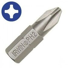 IRWIN 10505151 Phillips PH2 Screwdriver Bits (10 Pieces) NEW