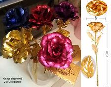 Rose éternelle en Or pur plaqué certifié, 5 couleurs
