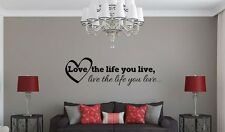 LOVE THE LIFE YOU LIVE BOB MARLEY Insprational Quote Vinyl Wall Decal Sticker