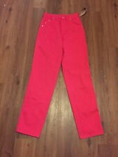 Wrangler Womens Jeans 7/8 X 34 Made In USA Hot Pink Vintage Rare Denim Dingarees