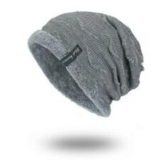 Winter Beanies Slouchy Chunky Hat for Men Women Warm Soft Skull Knitting Caps UK