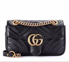 Gucci GG Mini Marmont Metallase Flap Crossbody/shoulder Bag.100% Authentic