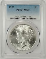 1923-P $1 PEACE SILVER DOLLAR PCGS MS63 #38654117 - GREAT EYE APPEAL / BU COIN!!