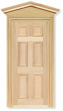 1:12 Scale External Wooden Door & Frame Dolls House DIY Fairy Accessory 02