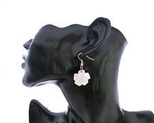 Ohrringe aus echtem Perlmutt, Naturmaterial, Blüte, Blume, Handarbeit, Unikat