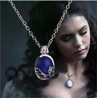 The Vampire Diaries Katherine colgante antiguo collar de plata nuev