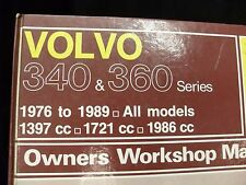 VOLVO 340 & 360 series all models 1976 >1989 Haynes workshop manual (OWM715)