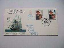 Cutty Sark Tall Ships Race 29/7/81 primer día cubierta-Gt. Yarmouth dirigida en muy buena condición