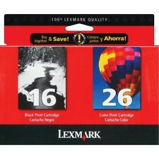 Lexmark 16 & 26 Combo Pack Black and Color Ink Cartridges - EXPIRED 2006