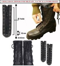 Lace In Boot Zipper 9 Hole Combat Boots, Tactical Boots, Work Boots, Rothco 6195