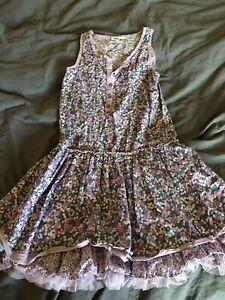 Naartjie Purple Flower Tank Dress Sz 10 Girls