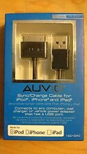 Auvio 3.8-Ft 30-Pin Charge Cable Apple iPhone iPod iPad Black New