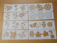 Plastic Leaves Flower Layering Stencils Painting Scrap Writing Cards 8 pc set