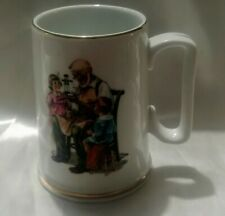 Norman Rockwell The Toy Maker Collectible Mug 1986