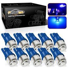 10pcs Blue SMD LED T10 Wedge Interior Instrument Panel Gauge License Light Bulbs