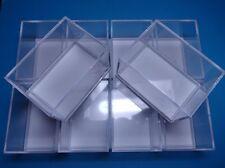 10 Kleinstufen - Dosen weiss  59x41x39 mm für Mineralien Sammlung / Kästchen