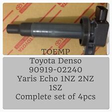 4pcs X Toyota Denso Echo Yaris Ignition Coil 90919-02240 4AGE 4G63 VR4 Upgrade