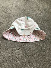 Baby Girl Joules 0-6 Months Summer Sun Hat Reversible Pink