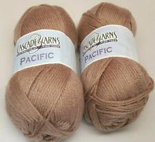 Lot of 2 Matched Skeins Cascade Yarn Pacific - 213 Almond